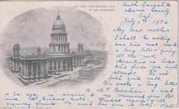 UNITED STATES -  San Francisco Vignette City Hall & General View  1904 - Undivided Rear - San Francisco