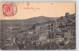CPA GIBRALTAR TOWN DOS DIVISE ECRIT 1905 - Gibraltar