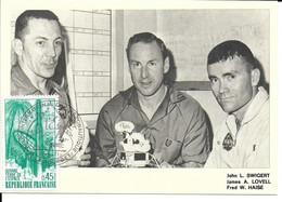 ESPACE FRANCE 1971 LE BOURGET SALON AERONAUTIQUE CARTE J L. SWIGERT  J A. LOVELL  F W. HAISE - Europe
