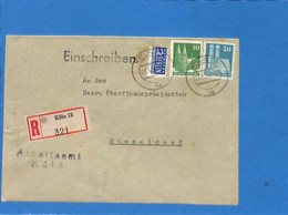 Allemagne Bizone 1950 Lettre De Koln (G2448) - Zone Anglo-Américaine