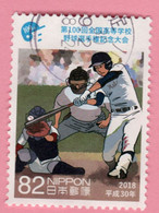 2018 GIAPPONE Sport Baseball Catcher, Umpire And Batter - 82 Y Usato - Usati