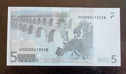 5 Euro Duisenberg P001 X00000413228 RRRRR Low Number UNC Germany - 5 Euro