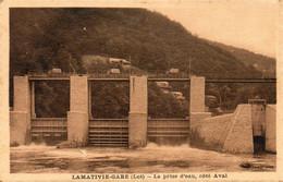 46. CPA - LAMATIVIE-GARE -  La Prise D'eau, Côté Aval - - Other Municipalities