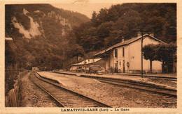 46. CPA - LAMATIVIE-GARE -  La Gare - Le Quai - 1934 - Scan Du Verso - - Otros Municipios