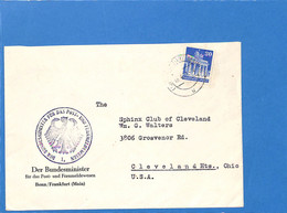 Allemagne Bizone 1951 Lettre De Frankfurt Aux USA (G2470) - Zone Anglo-Américaine