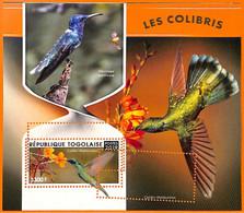 A7047 - TOGO, Error, 2019, MISPERF SOUVENIR SHEET: Birds, Hummingbirds - Hummingbirds