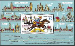 2020  Deutschland Germany Mi.Bl. 86 **MNH   Europa – Historische Postrouten - Unused Stamps