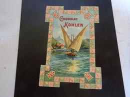 CHOCOLAT KOHLER Carte     Avec Publicité - Chocolat