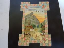 CHOCOLAT KOHLER   Village SUISSE Carte     Avec Publicité - Chocolat