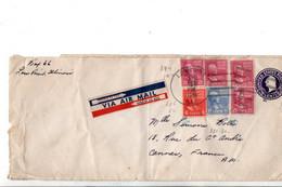USA ETATS UNIS AFFRANCHISSEMENT COMPOSE SUR LETTRE DE LOW POINT POUR LA FRANCE 1946 - Covers & Documents
