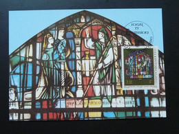 Carte Maximum Card Vitrail Stained Glass Medieval Art 1987 Luxembourg Ref 70513 - Verres & Vitraux