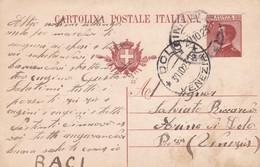 REGNO - CINISELLO (MILANO) - INTERO POSTALE C. 30  - VG PER DOLO (VENEZIA) - Stamped Stationery