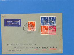 Allemagne Bizone 1950 Lettre Par Avion De Holzhausen Aux USA (G2482) - Zone Anglo-Américaine