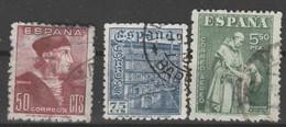 1946 Dia Del Sello. Dia De La Hispanidad. Edifil 1002 A 1004. Serie Completa - 1931-50 Gebraucht