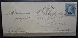 Pau 1867 Lettre Pour Lanne Par Aramits (Curutchet Propriétaire Et Négociant) - 1849-1876: Période Classique