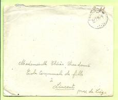 """Brief Stempel TERVUREN Op 10/1/46 , Verzonden """" Ecole D'Infanterie Tervuren"""" (B4772) - Posta Militare"""