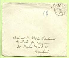 """Brief Stempel TERVUREN Op 8/1/46 , Verzonden """" Ecole D'Infanterie Tervuren"""" (B4785) - Posta Militare"""