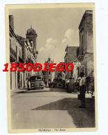 FLORIDIA - VIA ROMA  F/GRANDE  VIAGGIATA 1959 ANIMATA CON CORRIERA - Siracusa
