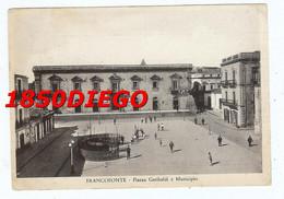 FRANCOFORTE - PIAZZA GARIBALDI E MUNICIPIO F/GRANDE  VIAGGIATA  1953? ANIMATA - Siracusa