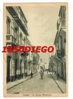 LENTINI - VIA REGINA MARGHERITA F/GRANDE  VIAGGIATA 1955 ANIMATA - Siracusa