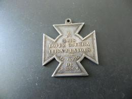 Medal - Luis Lopez Guerra - Luisa J. Layous - 12. Abril De 1896 - Silver - Unclassified