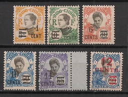 Indochine - 1922 - N°Yv. 117 à 122 - Série Complète - Neuf Luxe ** / MNH / Postfrisch - Nuevos