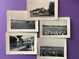 14   Lot De 5 Photos  7.5 X 10.5   DEAUVILLE  Courses à Clairefontaine   1957    Très Bon état - Deauville