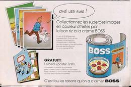Publicité Papier RIZ BOSS TINTIN   1979 SP1053153 - Pubblicitari