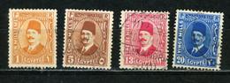 EGYPTE : FOUAD 1er - N° Yvert 118+122+123A+125A Obli. - Used Stamps