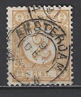 NVPH Nederland Netherlands Pays Bas Niederlande Holanda 32 CANCEL AMSTERDAM ; Cijfer, Cipher, Cifra, Cifre 1876-1894 - Usati