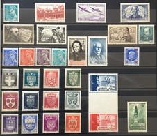 1942 (**) MNH Année Complète 1942 YT 538 à 567 - 30 Valeurs Neufs (côte 98 Euros) France – Kr4lot - 1940-1949