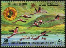 OMAN 1987 International Environment Day Flamingos Birds Animals Fauna MNH - Flamingo