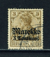 GERMAN POs IN MOROCCO  -  1911-18 Germania Deutches Reich Definitive 3c On 3pf Used As Scan - Oficina: Marruecos
