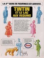 Publicité Papier ESSO TINTIN ET LE LAC AUX REQUINS 1973 SP1053015 - Pubblicitari