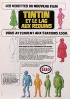 Publicité Papier ESSO TINTIN ET LE LAC AUX REQUINS 1973 SP1053018 - Pubblicitari