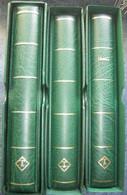 France - Lot De 3 Albums LEUCHTTURM Vert Avec Feuilles De 1987 à 2008 - Avec Pochettes - Sans Les Timbres -  Voir Scans - Binders With Pages