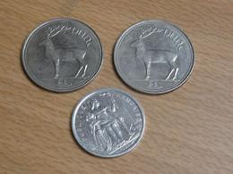 LOT 3 PIECES.  2 IRLANDE 1990. 1 POLYNESIE FRANCAISE 1987. - Lots & Kiloware - Coins