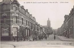 62 - Lens (Pas-de-Calais) - Avant La Guerre - Rue De Lille - Lens