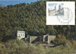 "AK  ""Simplon Tunnel - Nordportal""  (75 Jahre Simplontunnel)           1981 - Storia Postale"