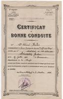 MILITARIA. CERTIFICAT De BONNE CONDUITE. COURS PRATIQUE De TIR De L'INFANTERIE Et Des CHARS. SOLDAT NE à ERNECOURT (55) - Documents
