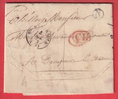 CAD TYPE 15 STE MENEHOULD MARNE CL ANNULE LE DECIME RURAL BOITE RURALE N BOIS DES CHAMBRES TAXE LOCALE 1 - 1801-1848: Precursors XIX