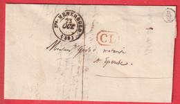 CAD TYPE 15 STE MENEHOULD MARNE CL BOITE RURALE B/2 BELVAL 1844 POUR EPENSE - 1801-1848: Precursors XIX