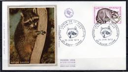 FDC FRANCE 1973 - N° 1754 - Protection De La Nature - Raton Laveur - 1970-1979