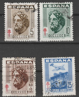 1948 Pro Tuberculosos. Edifil 1040 A 1043. Serie Completa - 1931-50 Gebraucht