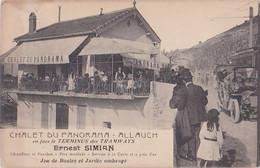 CHALET DU PANORAMA/ Ernest SIMIAN En Face Terminus Tramways/ Cliché Très Animé Et Inconnu! - Allauch