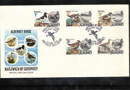 Alderney 1984 Birds FDC - Marine Web-footed Birds