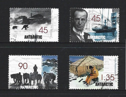 Australian Antarctic Territory 1999 Mawson's Hut Restoration Set Of 4 Singles FU - Used Stamps