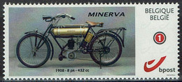 Belgie Belgien 2020 - Minerva Motorfiets 1908 - OBP 4183a (2015) - Sellos Privados