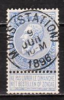 60  Fine Barbe - Bonne Valeur - Oblit. Centrale MONS (STATION) - LOOK!!!! - 1893-1900 Schmaler Bart