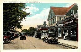 Main Street Look East Port Washington Long Island NY White Border Not Posted NM - Long Island